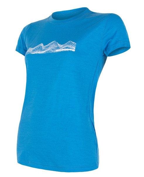 Modré dámské funkční tričko s krátkým rukávem Sensor - velikost XL