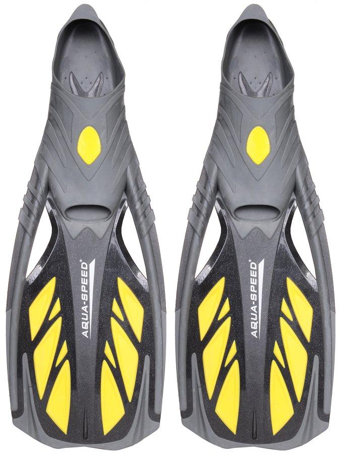 Černo-žluté dlouhé potápěčské ploutve Inox, Aqua-Speed - velikost 46-47 EU