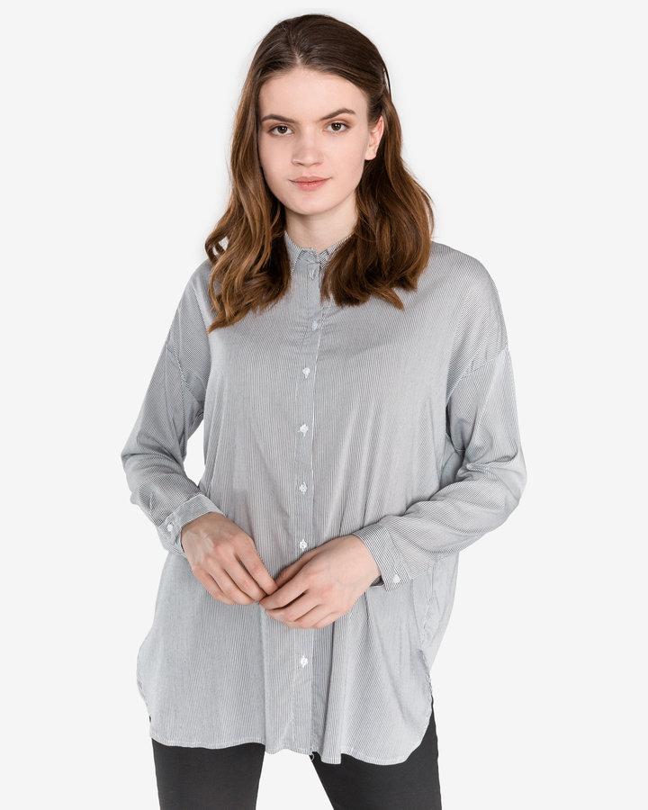 Šedá dámská košile s dlouhým rukávem Vero Moda