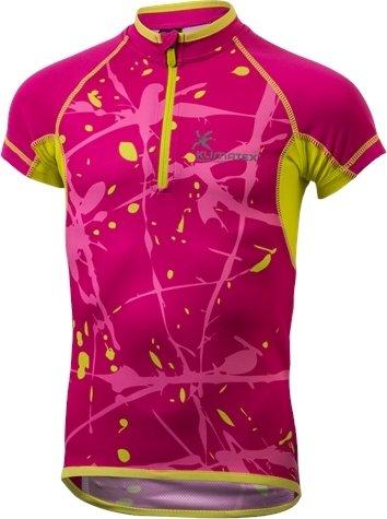 Růžový dívčí cyklistický dres Klimatex