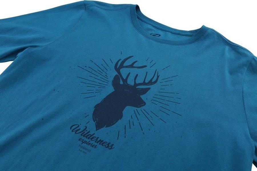 Modré pánské tričko s dlouhým rukávem Hannah - velikost M