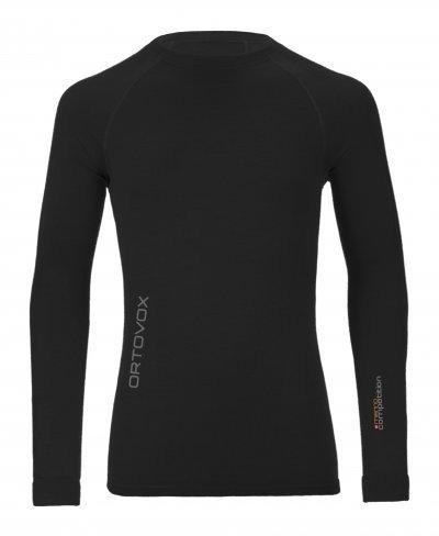 Černé pánské funkční tričko s dlouhým rukávem Ortovox - velikost S