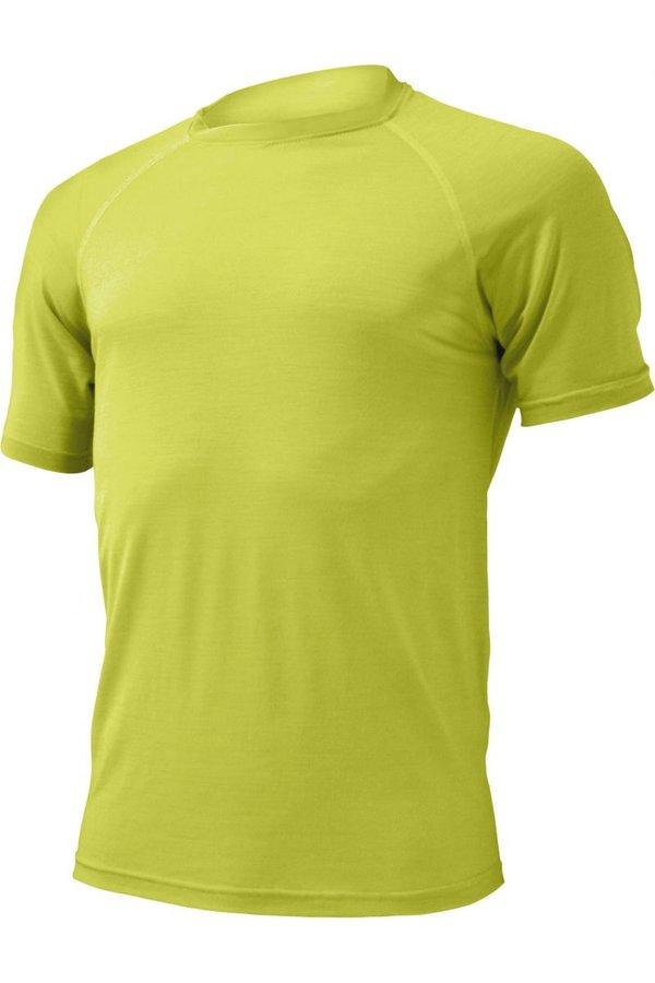 Žluté pánské tričko s krátkým rukávem Lasting - velikost L