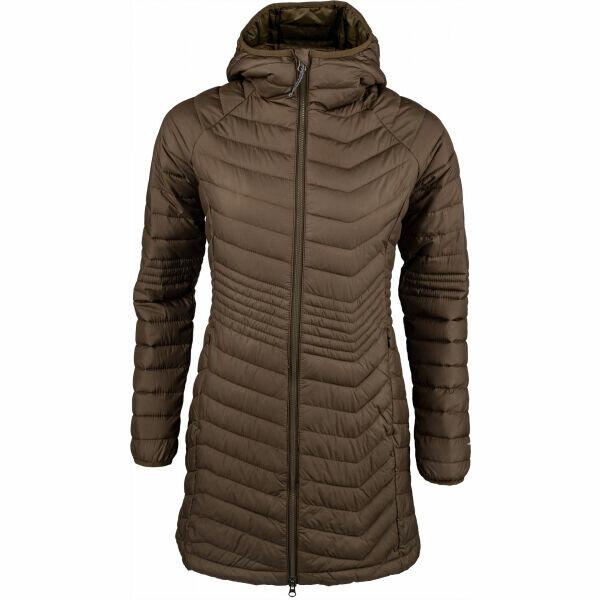 Hnědá zimní dámská bunda Columbia