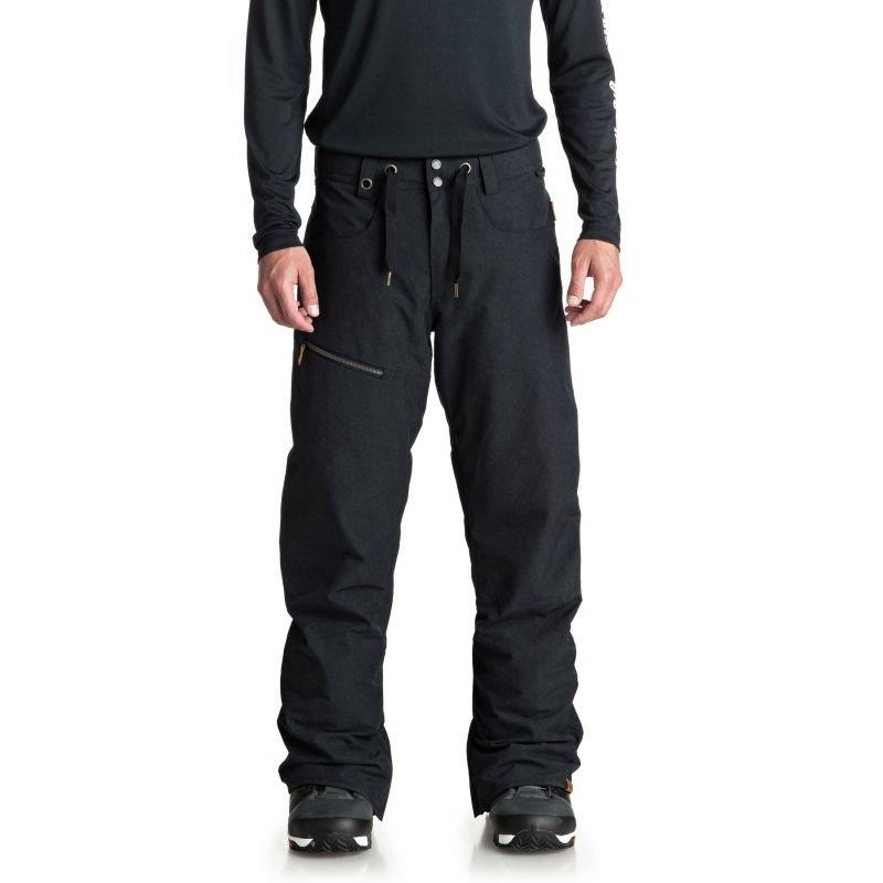 Černé pánské snowboardové kalhoty Quiksilver - velikost S