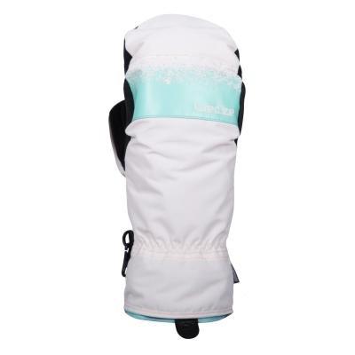 Bílé snowboardové rukavice Wed'ze