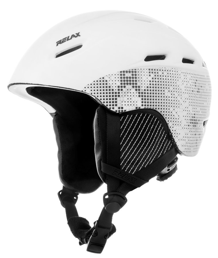Bílá lyžařská helma Relax