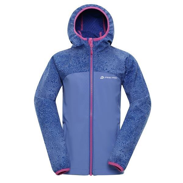 Modrá softshellová dětská bunda s kapucí Alpine Pro