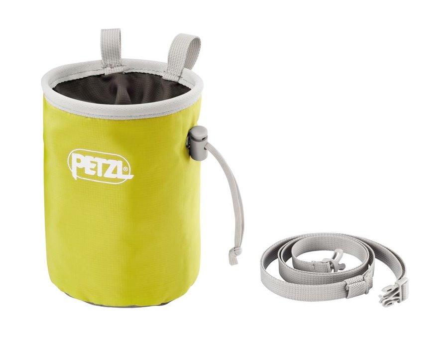Žlutý pytlík na magnézium s páskem Petzl
