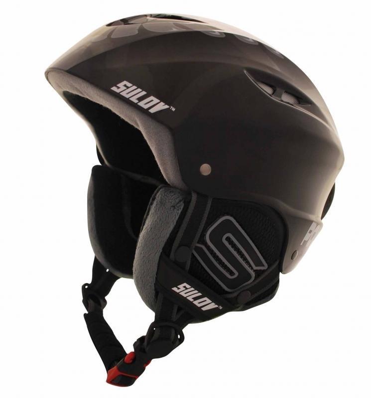 Černo-šedá lyžařská helma Sulov - velikost 54-58 cm