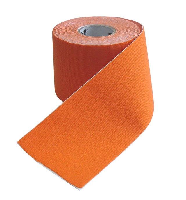 Oranžová tejpovací páska Acra - délka 5 m a šířka 5 cm