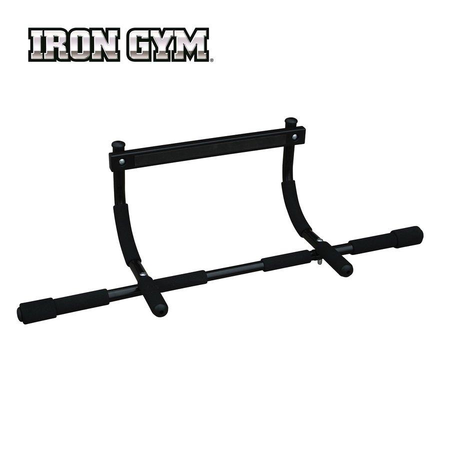 Samovzpěrná dveřní hrazda Express, Iron Gym - nosnost 100 kg a nastavitelná délka