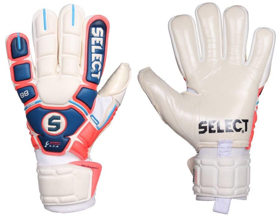 Bílo-modré brankářské fotbalové rukavice 88 Pro Grip, Select - velikost 10,5