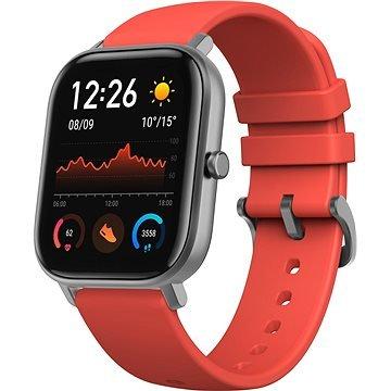 Oranžové chytré hodinky Amazfit GTS, Xiaomi