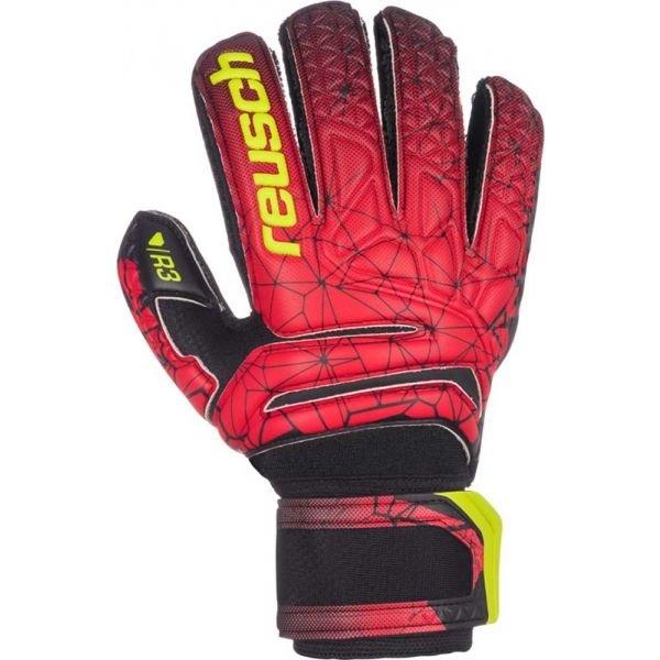 Červené pánské brankářské fotbalové rukavice Reusch