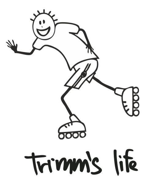 Červeno-hnědé pánské tričko s krátkým rukávem Inline Skating, Trimmslife - velikost M