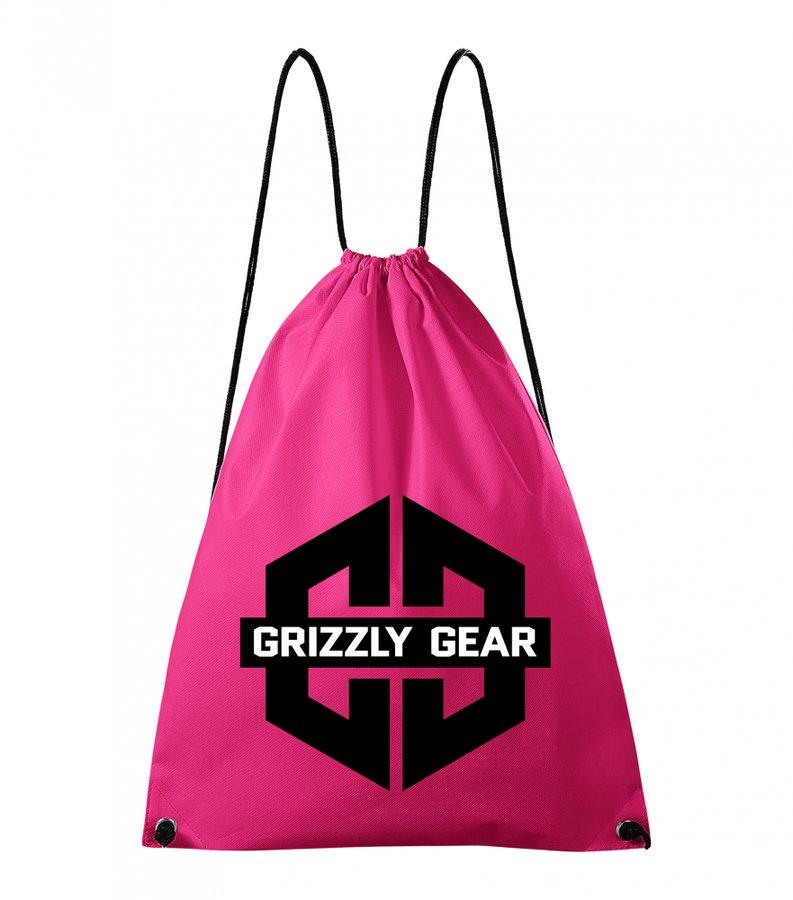 Růžový vak na záda Grizzly Gear