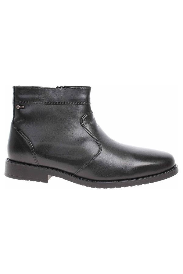 Černé pánské kotníkové boty Salamander