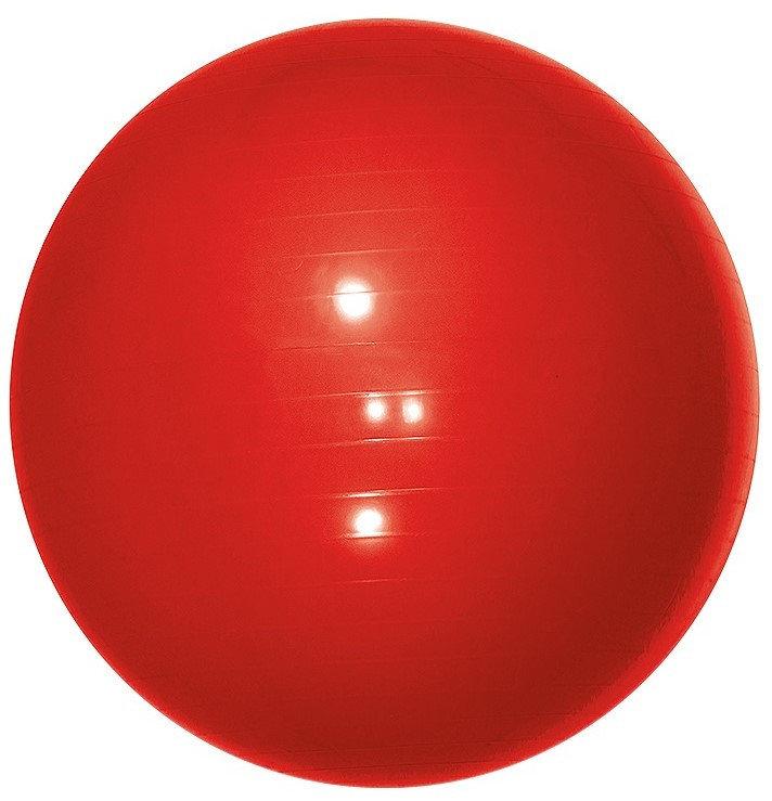 Červený gymnastický míč s pumpou Yate - průměr 65 cm
