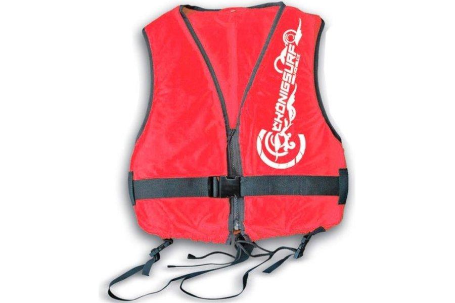 Červená dětská dívčí nebo chlapecká plovací vesta Lema, König - velikost 3XS