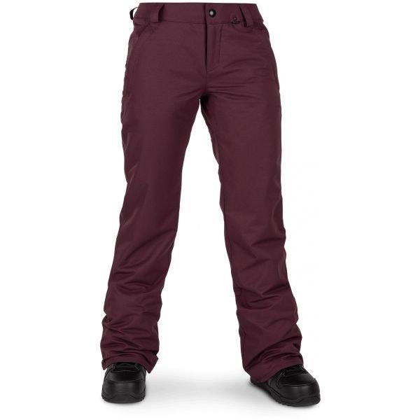 Červené dámské lyžařské kalhoty Volcom