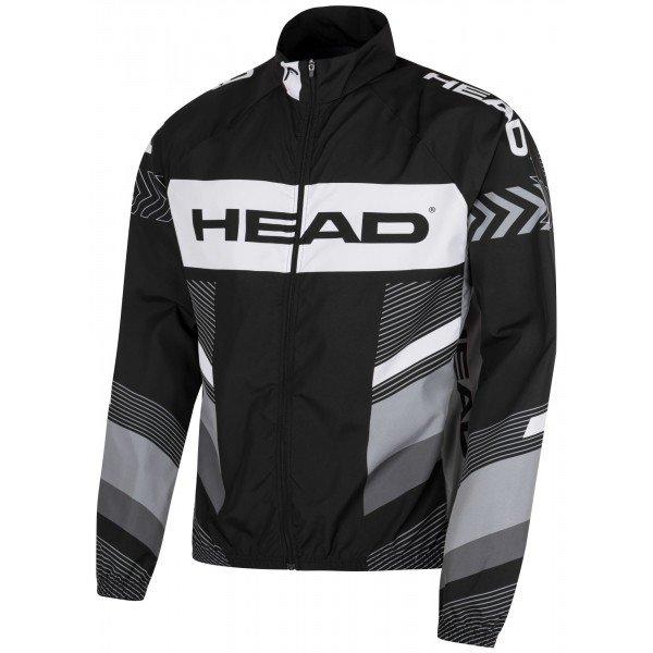 Černo-šedá pánská cyklistická bunda Head