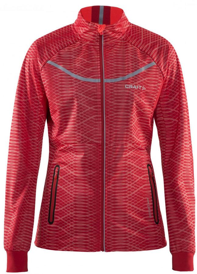 Oranžová dámská bunda na běžky Craft - velikost XS