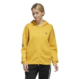 Žlutá dámská mikina s kapucí Adidas