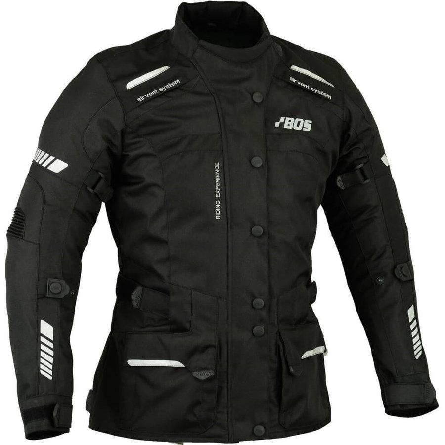 Černá dámská motorkářská bunda 5787, BOS