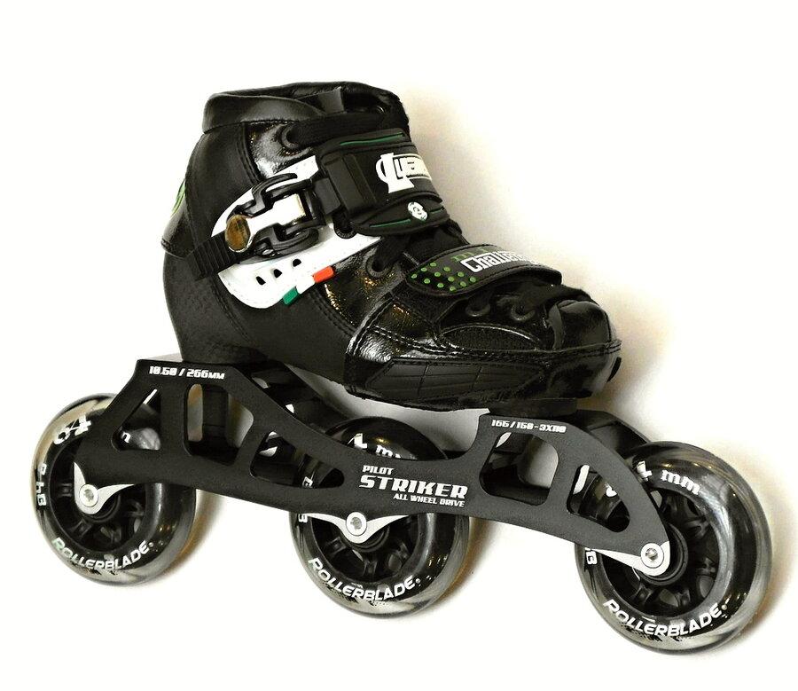 Černé dětské kolečkové brusle Luigino - velikost 31-34 EU