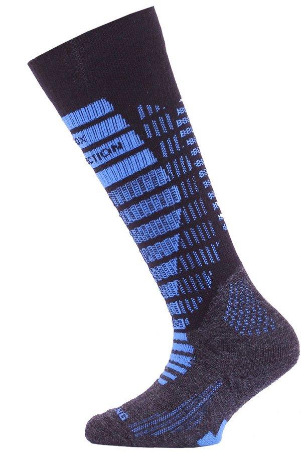 Černo-modré dětské lyžařské ponožky Lasting