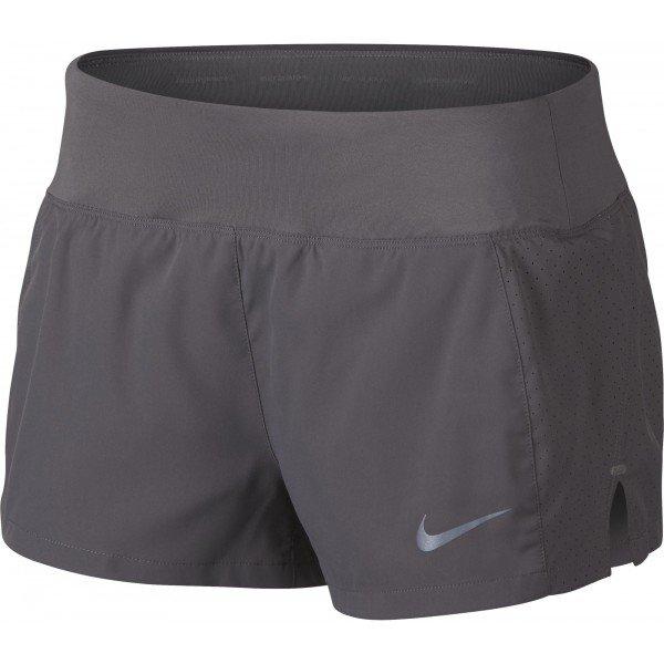 Šedé dámské běžecké kraťasy Nike