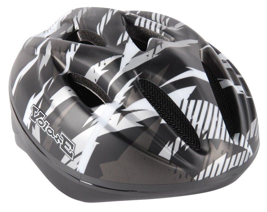 Cyklistická helma - VOLARE - Dětská přilba Deluxe, černá s bleskem