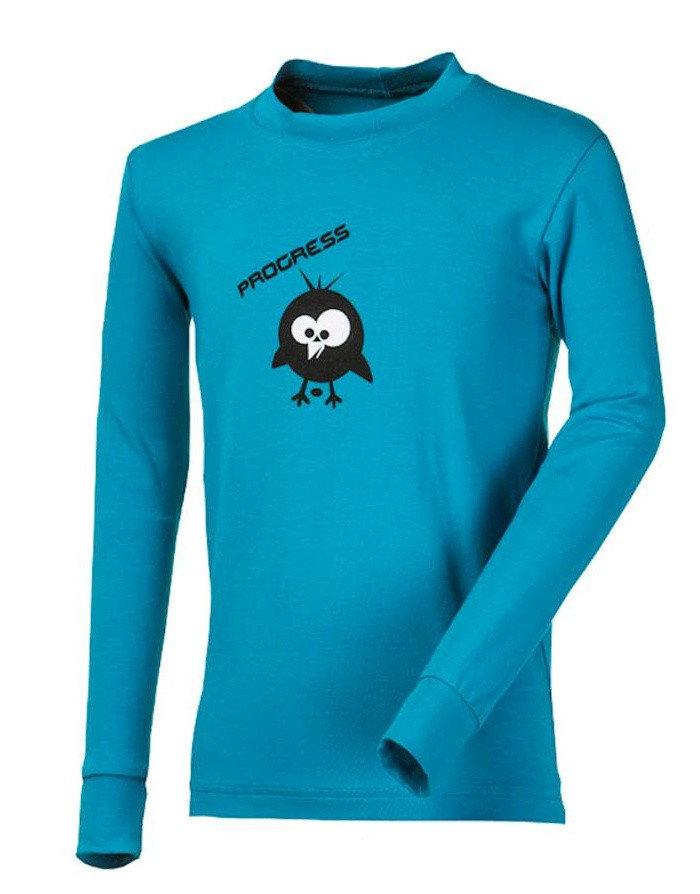 Modré dětské funkční tričko s dlouhým rukávem Progress - velikost 128