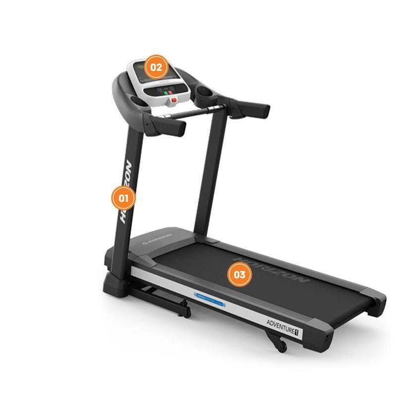 Běžecký pás Adventure 1 Plus, Horizon Fitness - nosnost 125 kg