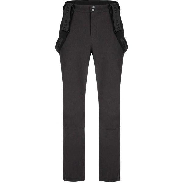 Šedé softshellové pánské kalhoty Loap