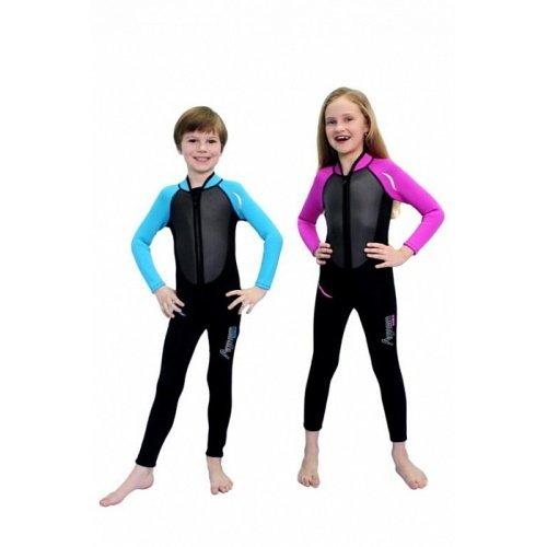 Modrý dětský neoprenový oblek Nemo, Agama - velikost 8-10 let a tloušťka 3 mm