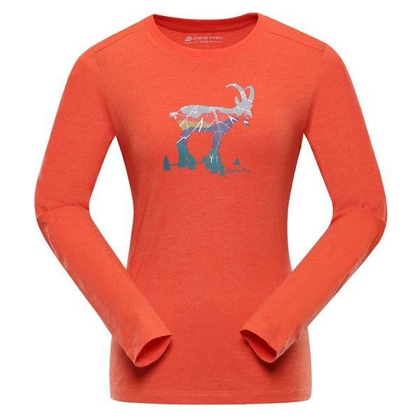 Oranžové dámské funkční tričko Alpine Pro - velikost XXL