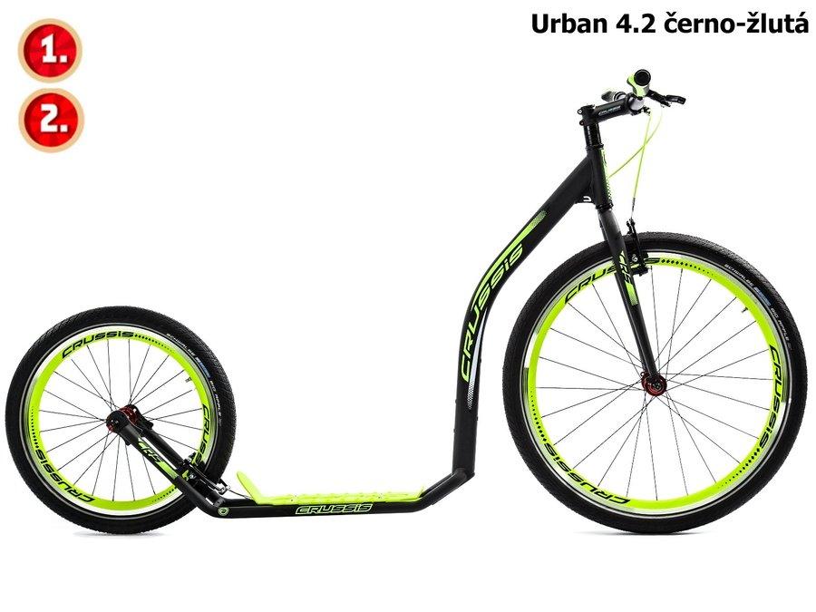 Černo-žlutá koloběžka pro dospělé URBAN, Crussis