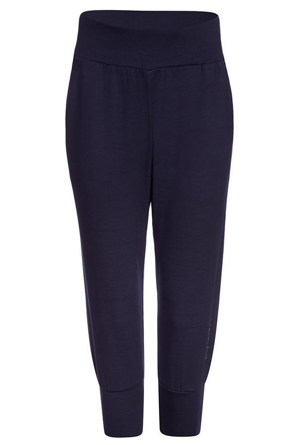Modré 3/4 dámské kalhoty Alpine Pro