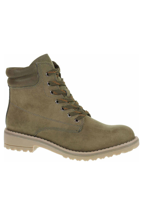 Zelené dámské kotníkové boty Marco Tozzi - velikost 37 EU