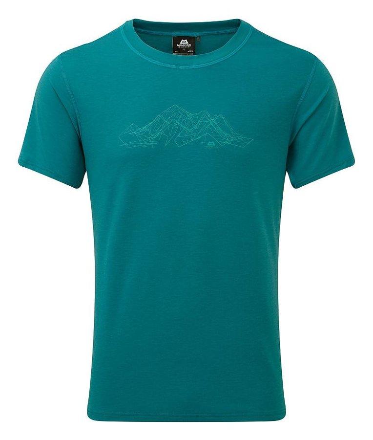 Modré pánské turistické tričko s krátkým rukávem Mountain Equipment - velikost S