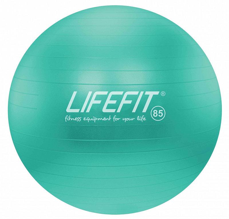 Tyrkysový gymnastický míč ANTI-BURST, Lifefit - průměr 85 cm