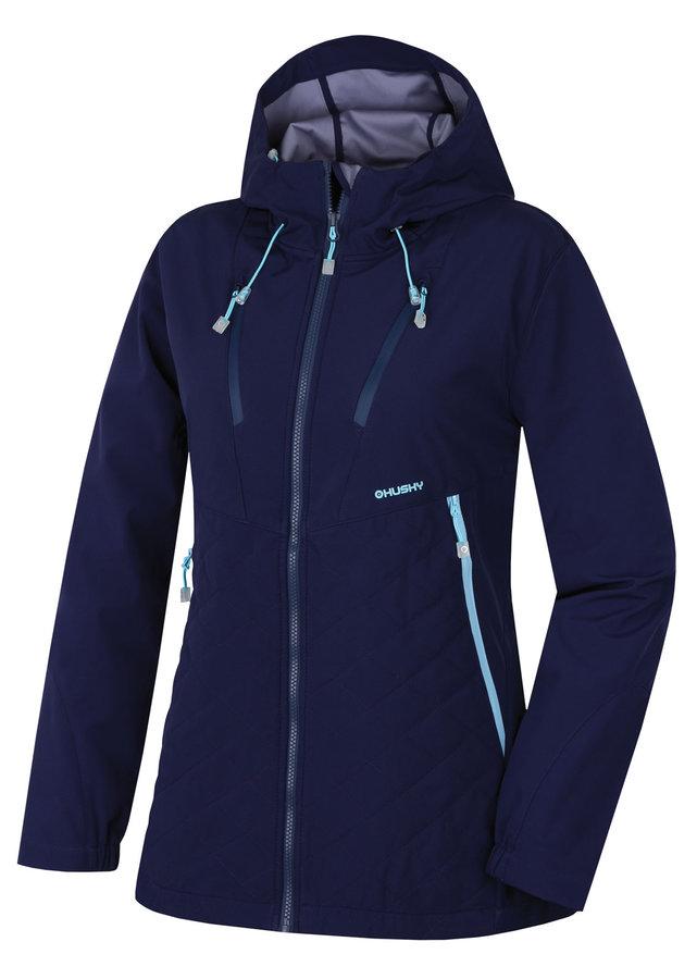 Modrá softshellová dámská bunda Husky - velikost M