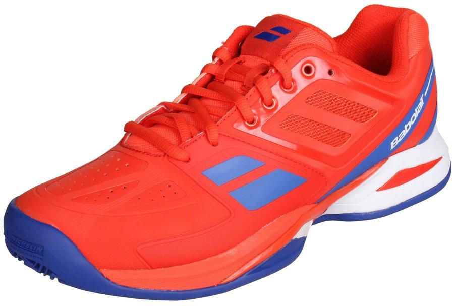 Červené pánské tenisové boty - obuv Propulse Team Clay, Babolat - velikost 36 EU