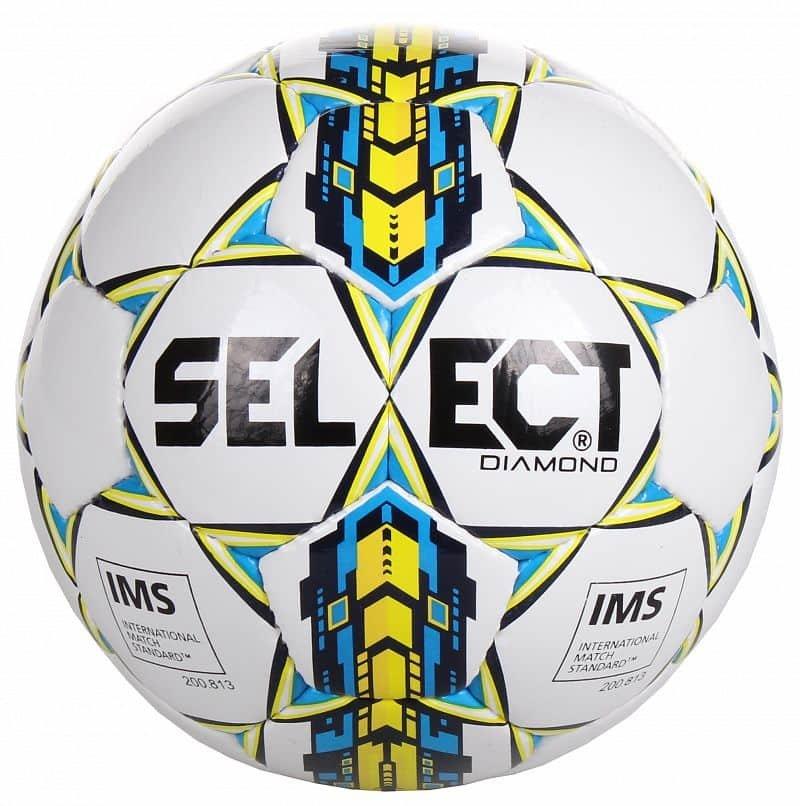Fotbalový míč - Select Diamond barva: bílá-oranžová;velikost míče: č. 3