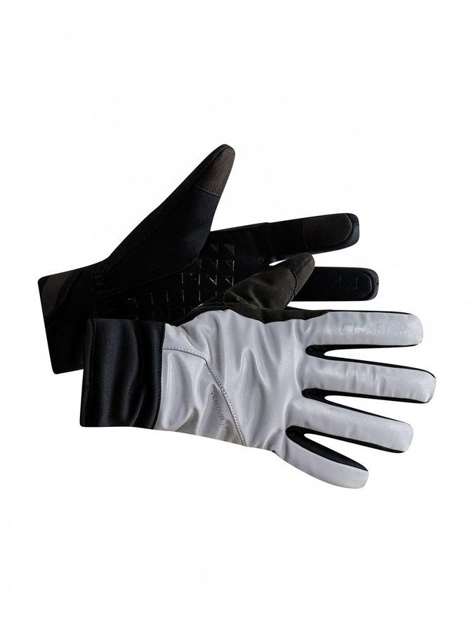 Černé zimní dámské cyklistické rukavice Craft - velikost L