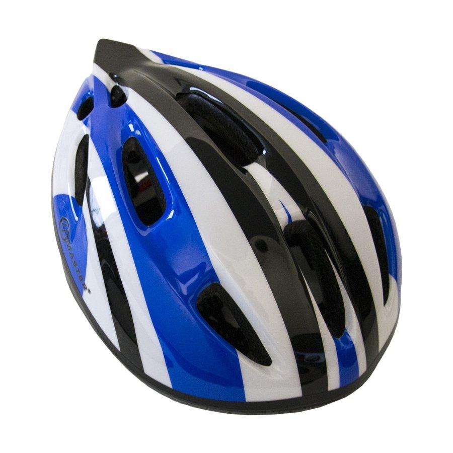 Modrá dětská cyklistická helma Master - velikost 51-56 cm