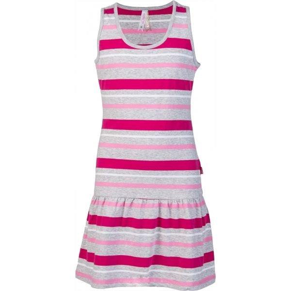 Růžovo-šedé dívčí šaty Lewro