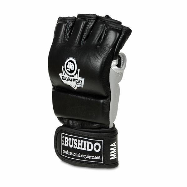 Bílo-černé MMA rukavice Bushido - velikost XL